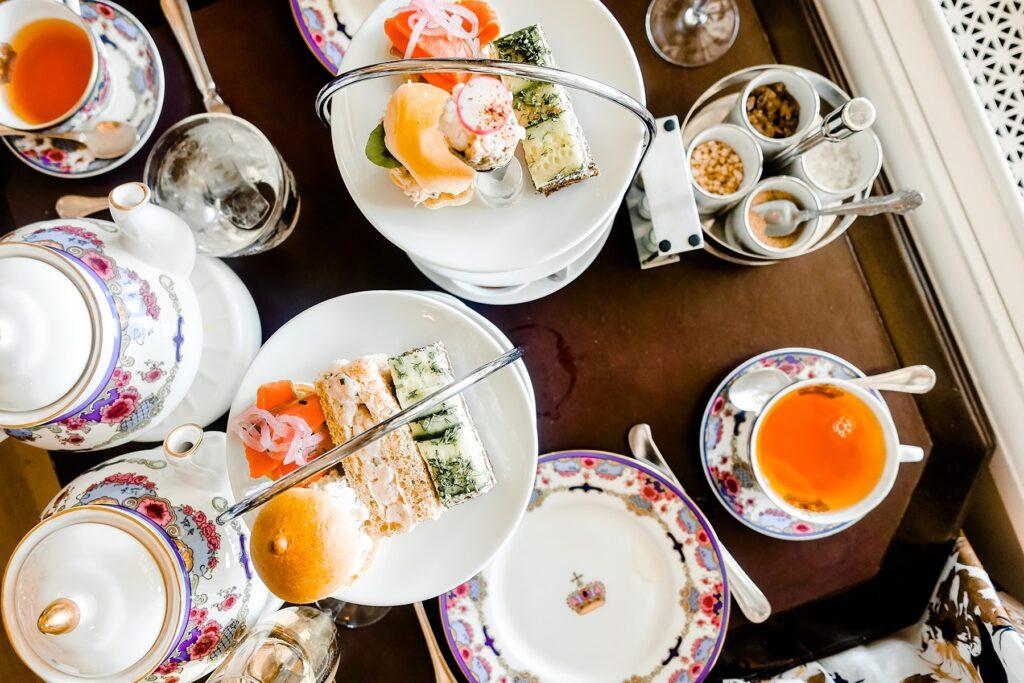 High tea at the Fairmont Empress Hotel.