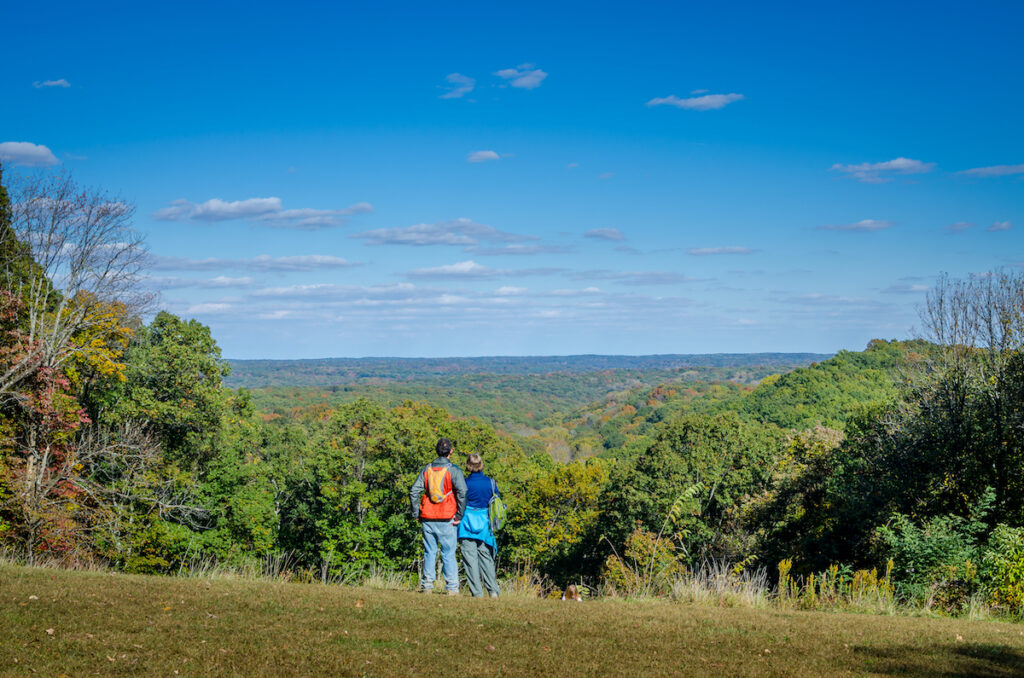 Hikers in Brown County State Park.