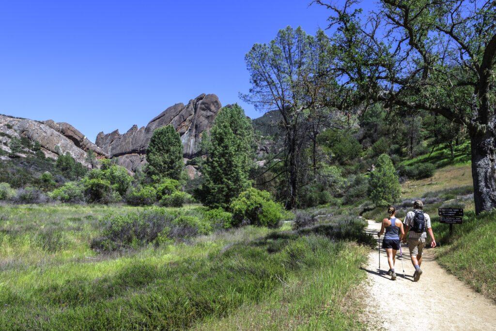 Hikers in Pinnacles National Park.
