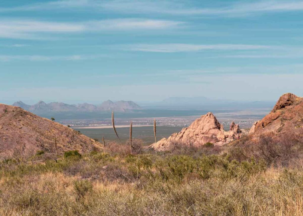 Hiking in Las Cruces, New Mexico.