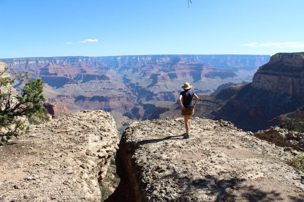 Hiking the Grand Canyon.