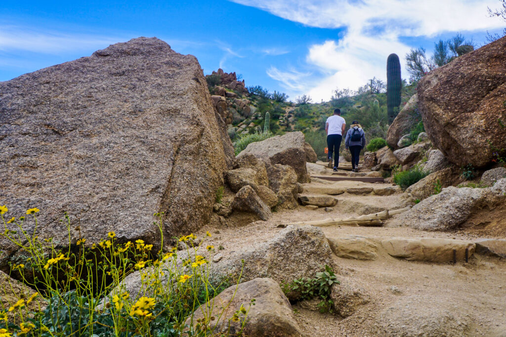 Hiking the Pinnacle Peak Park Trail in Scottsdale.