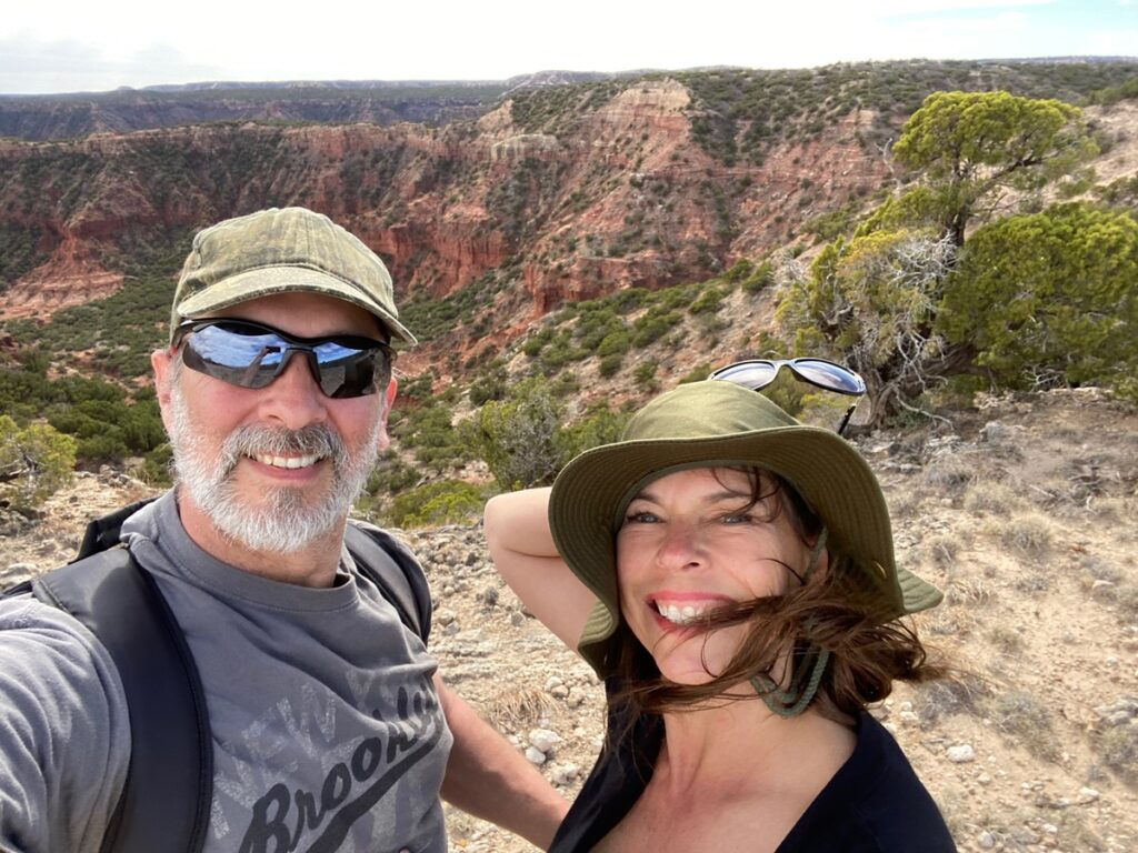 Hiking the trails at Palo Duro Canyon.