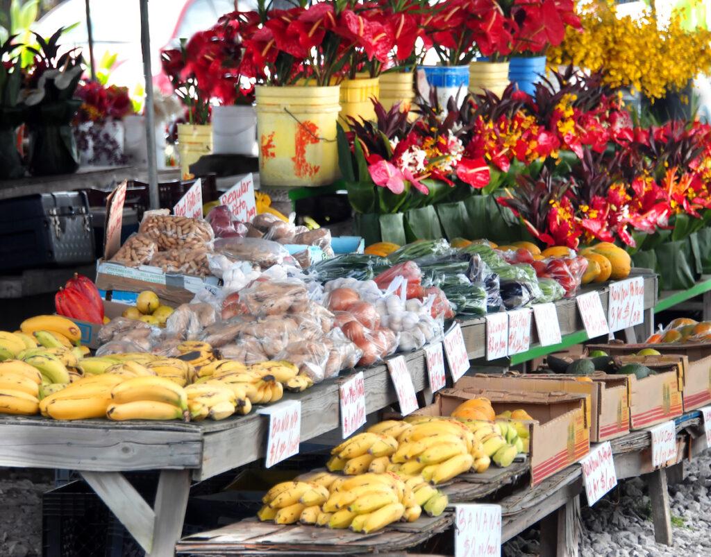 Hilo's farmers market in Hawaii.
