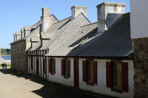 Historic buildings at Louisbourg