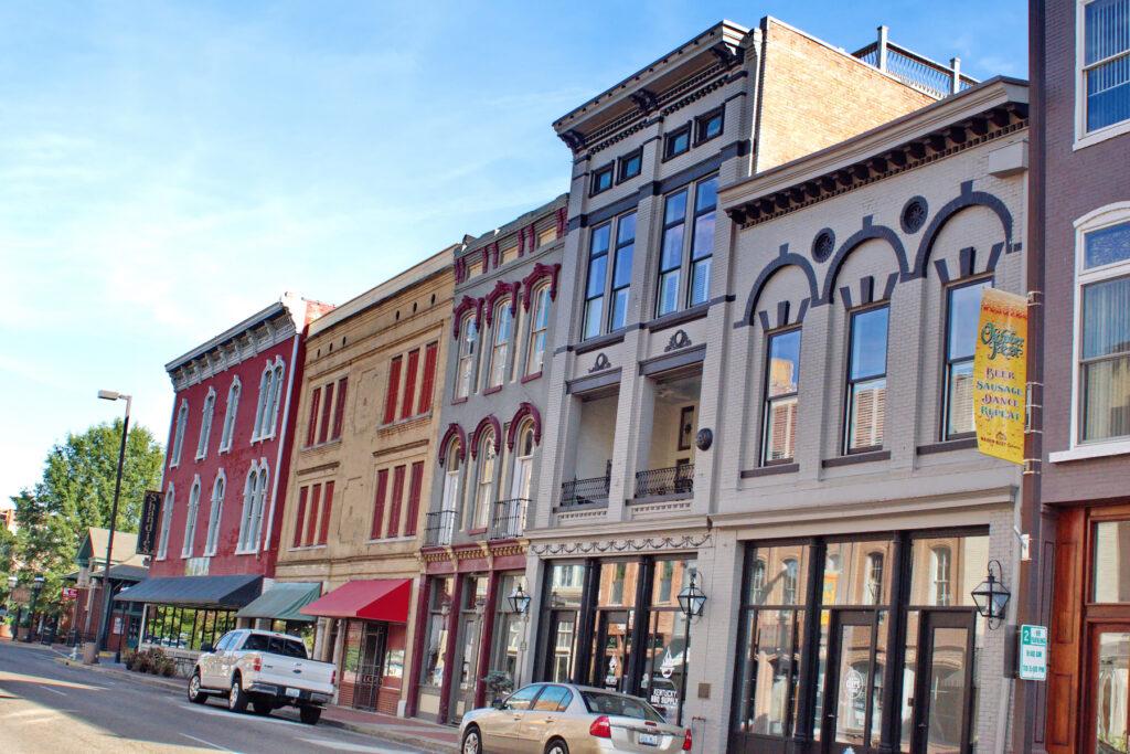 Historic buildings in downtown Paducah, Kentucky.