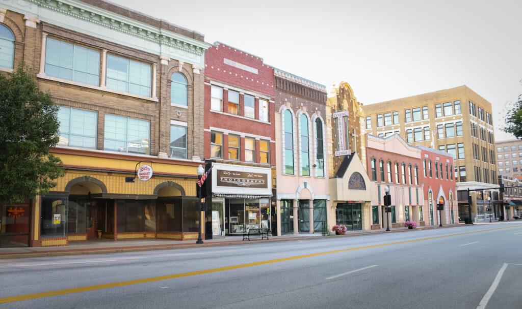 Historic buildings in Joplin.