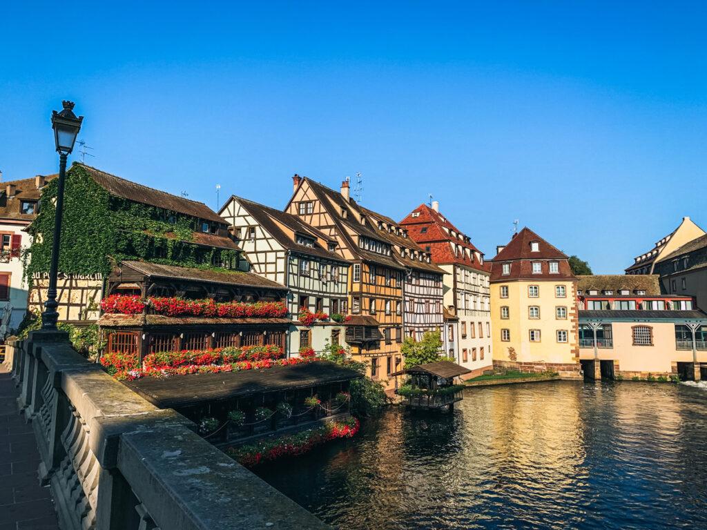 Historic buildings in Strasbourg's Petite France.