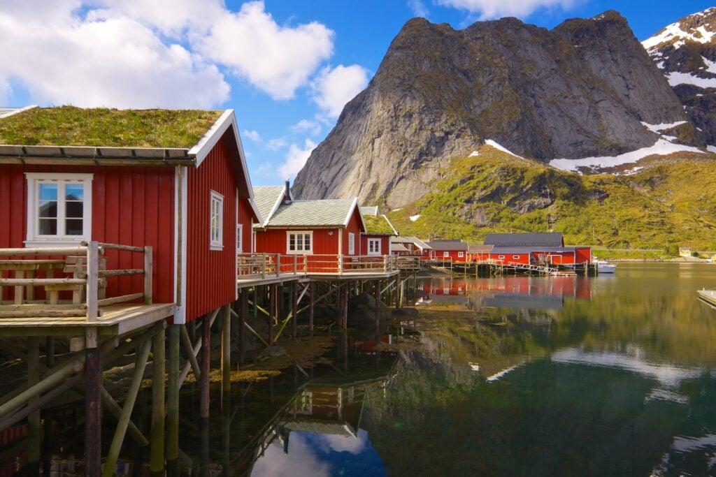Historic cabins on the Lofoten Islands.