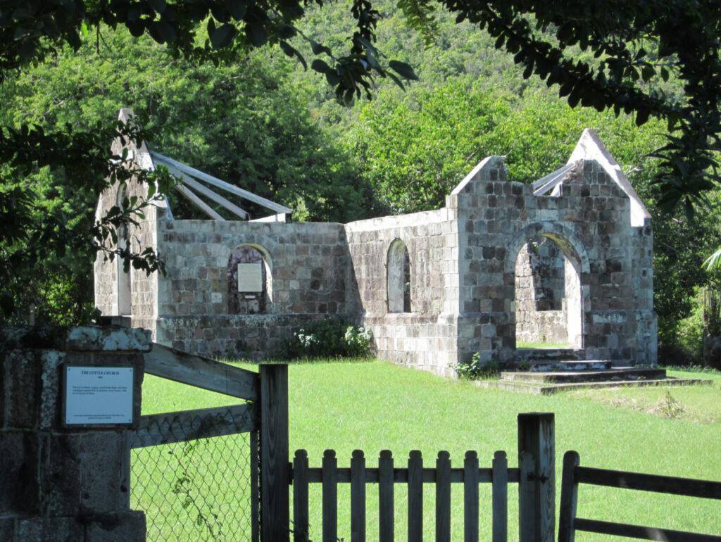 Historic church on Nevis, St. Kitts and Nevis