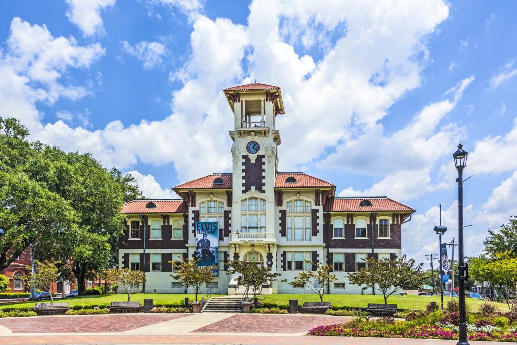 Historic city hall in Lake Charles, Louisiana.