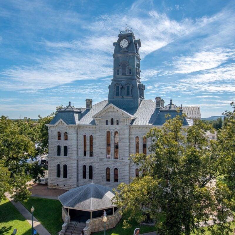 Historic courthouse in Granbury, Texas.