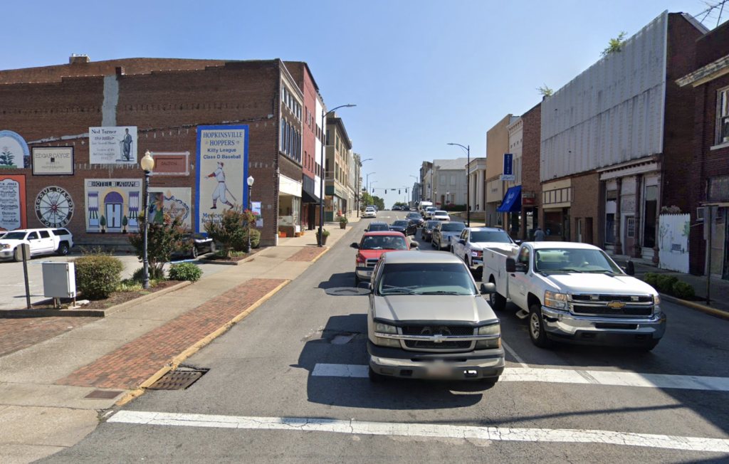 Historic downtown Hopkinsville, Kentucky.