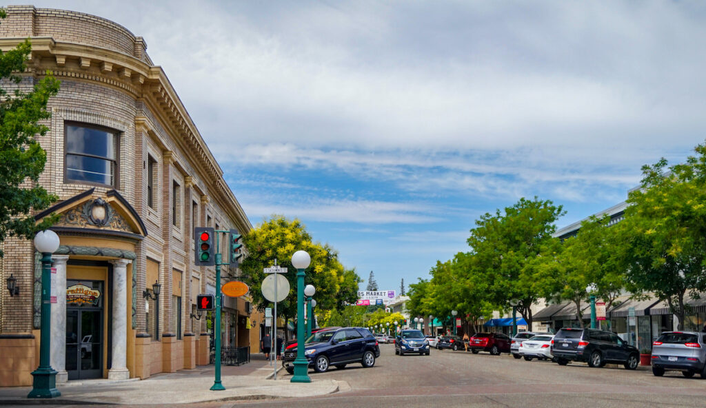 Historic downtown Lodi, California.