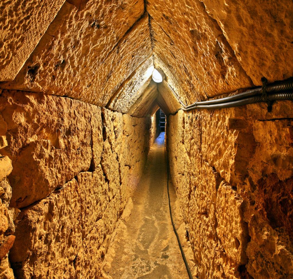 Historic Eupalinos Tunnel in Samos.