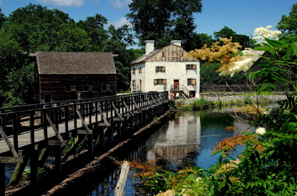 Historic grist mill in Sleepy Hollow, New York.