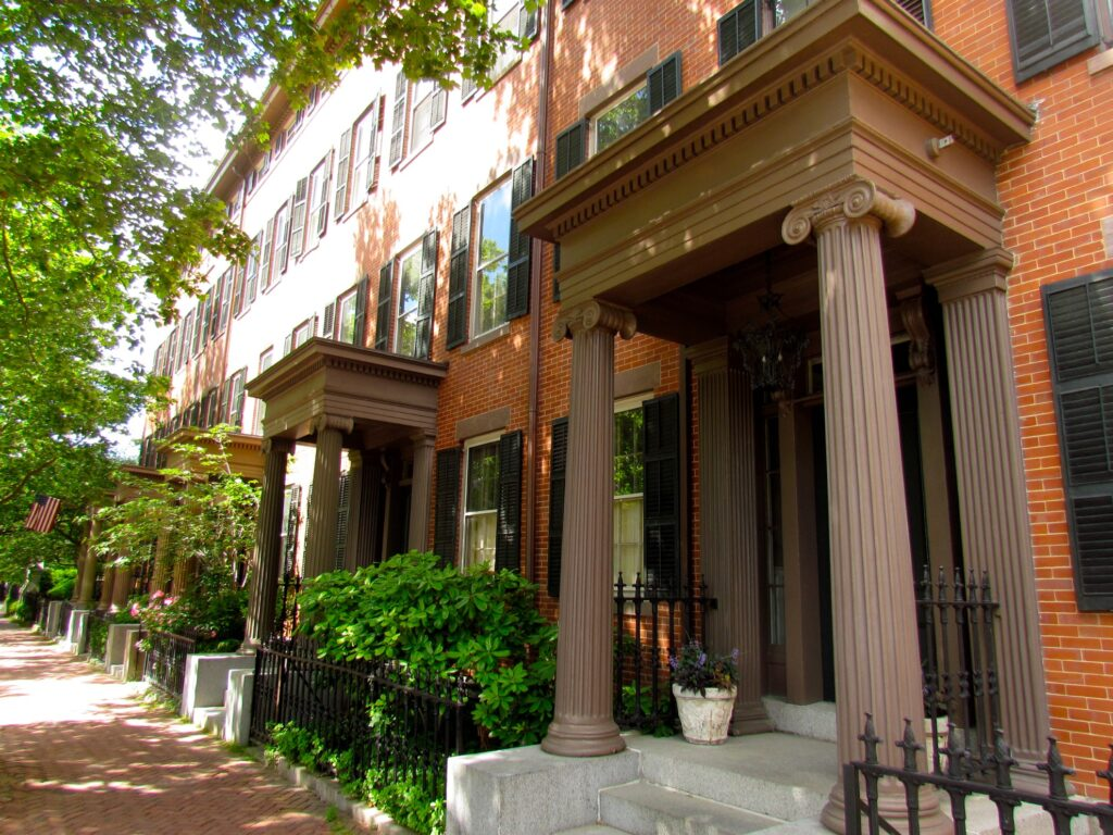 Historic houses on Benefit Street.