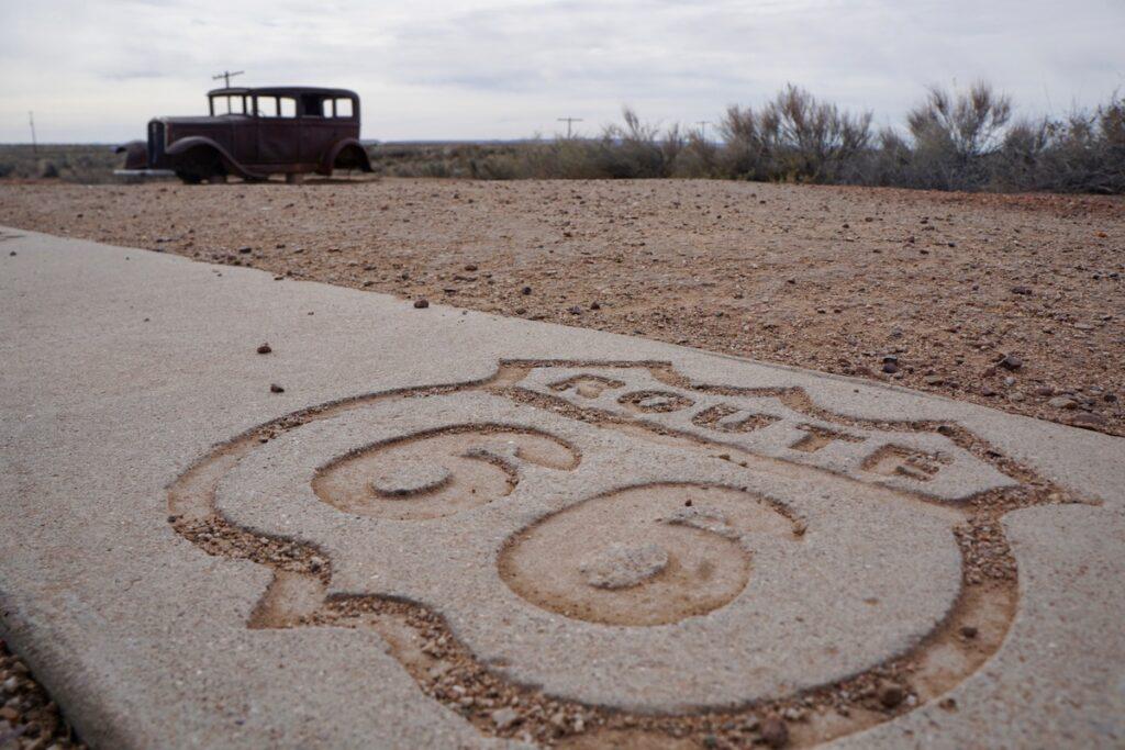 Historic Route 66 in Arizona.