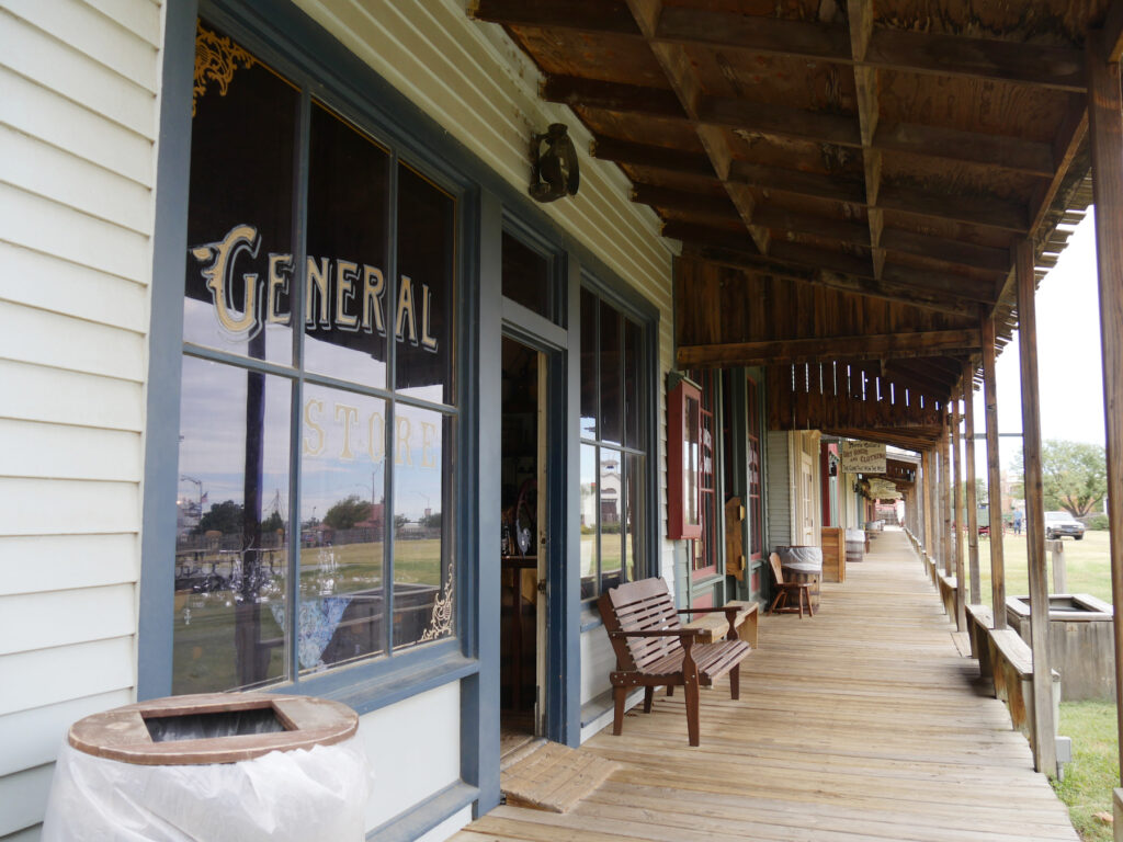 Historic shops at the Boot Hill Museum in Dodge City.