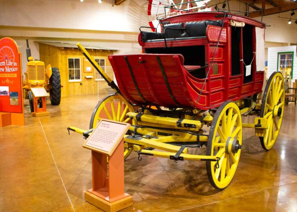 Historic stagecoach at the Farm and Ranch Heritage Museum.