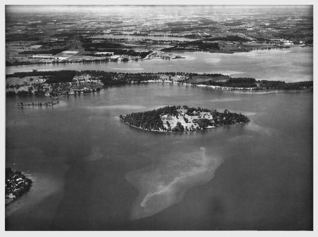 Historical photo of Apple Island