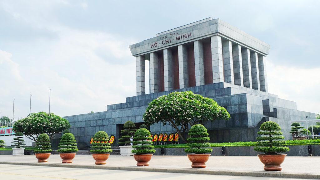 Hoh Chi Minh's mausoleum in Hanoi, Vietnam.
