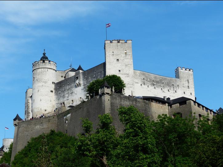 Hohensalzburg Caste, Salzburg, seen from below