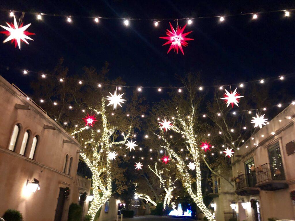 Holiday decorations in downtown Sedona, Arizona.