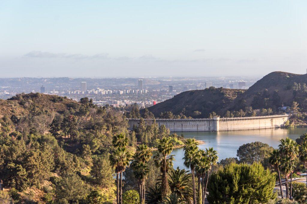 Hollywood Lake Reservoir in Los Angeles.