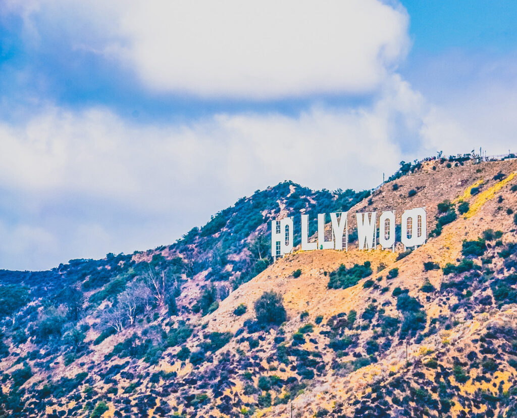 Hollywood sign, Los Angeles, California.