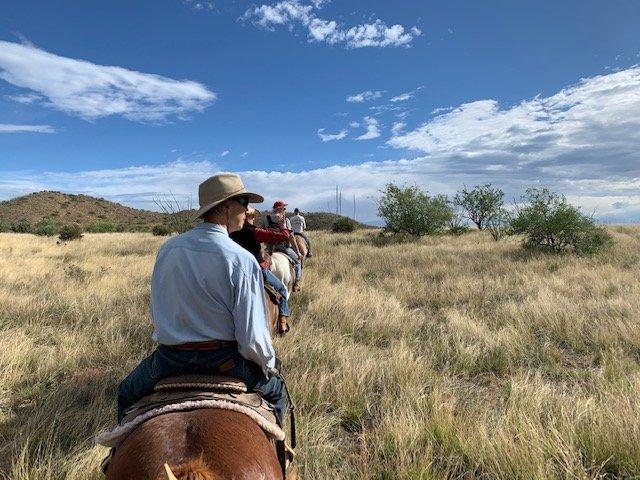 Horseback riding at Rancho de la Osa in Arizona.