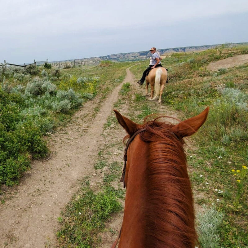 Horseback riding in Medora, North Dakota.