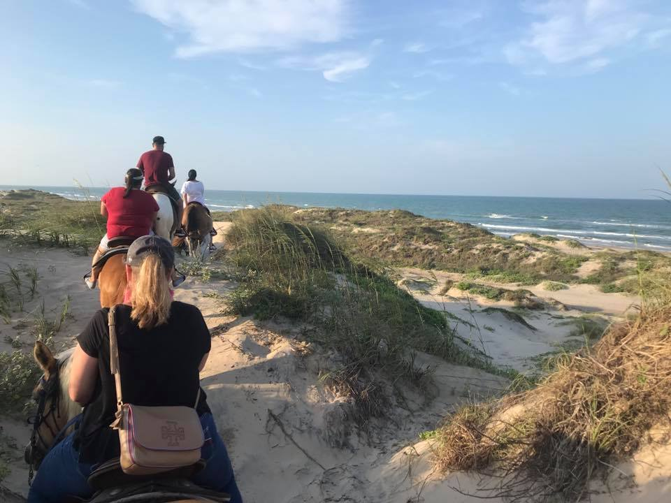 Horseback riding on South Padre Island in Texas.