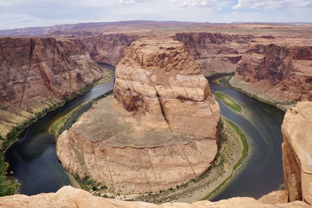Horseshoe Bend, just south of Page in Arizona.