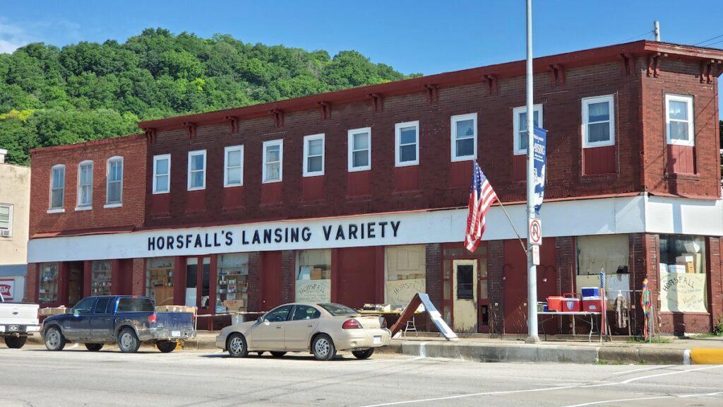 Horsfall's Lansing Variety Store in Iowa.