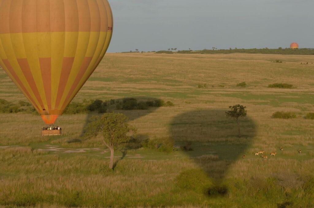 Hot air balloon over the Masai Mara.