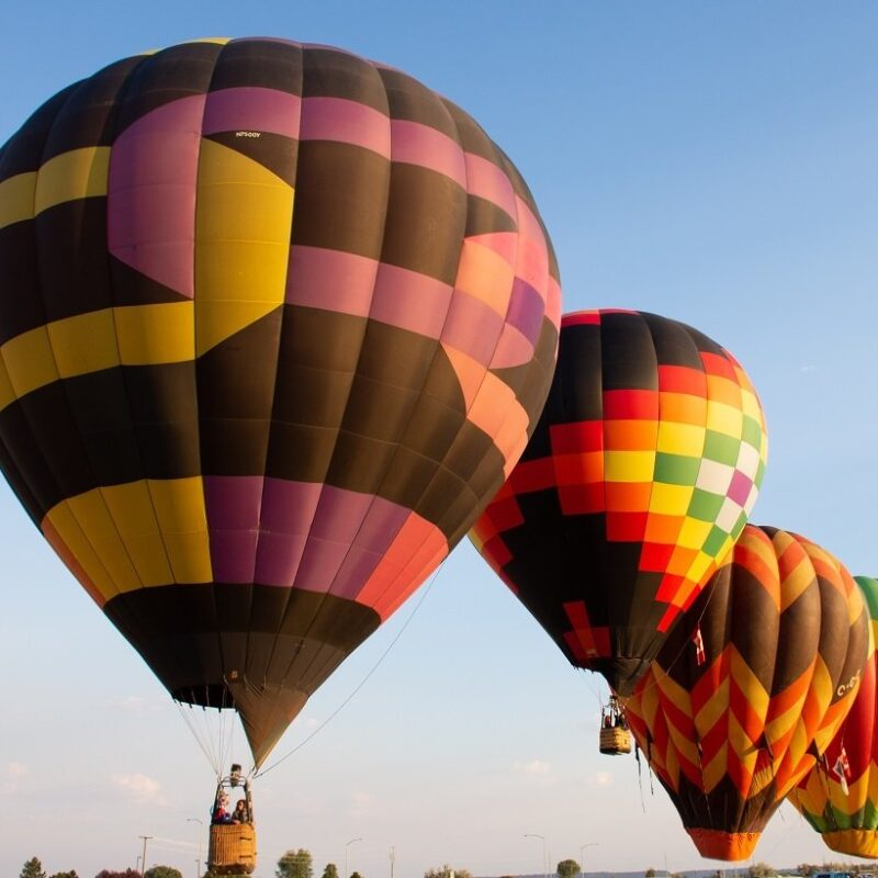 Hot air balloons in Billings, Montana.