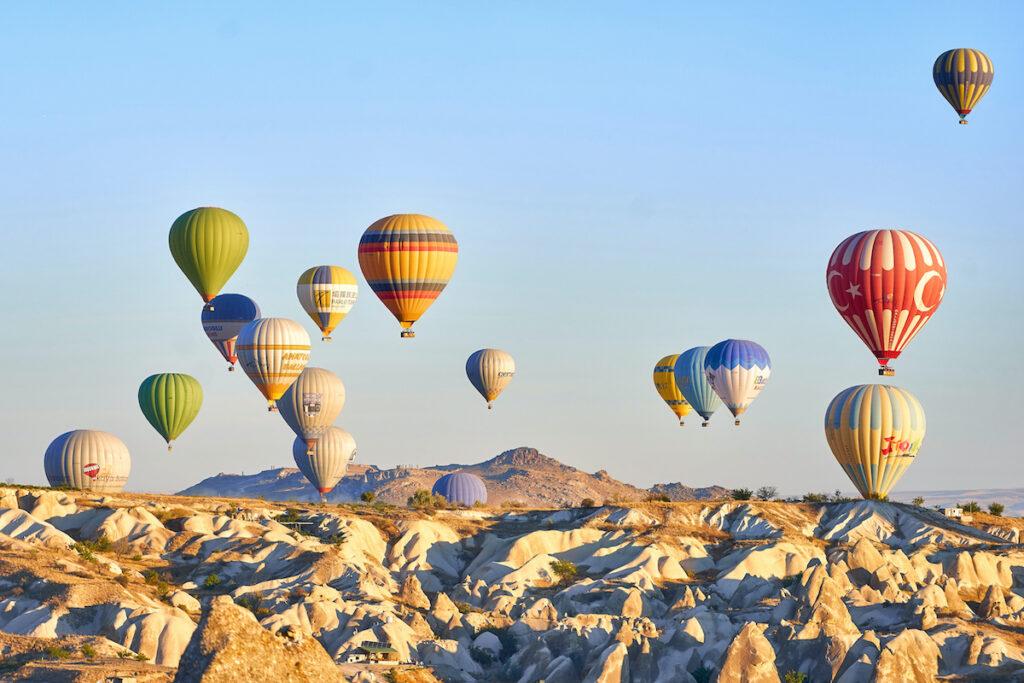 Hot air balloons in Goreme, Turkey.