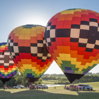 Hot air balloons in Indianola, Iowa.