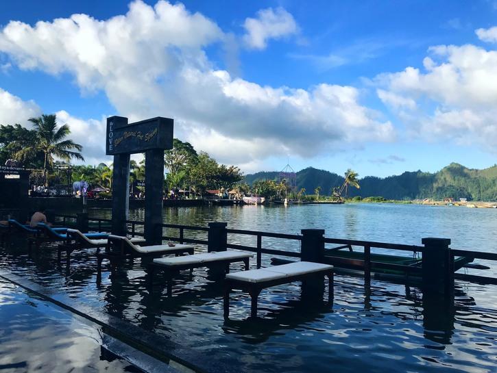 Hot springs overlooking Batur Lake, Bali