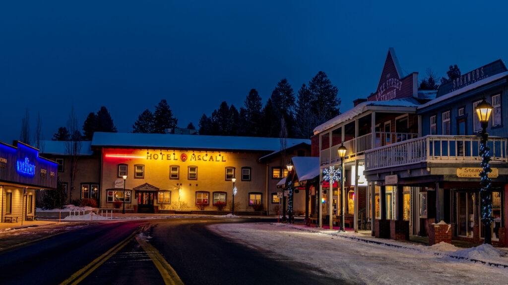 Hotel McCall in Idaho.