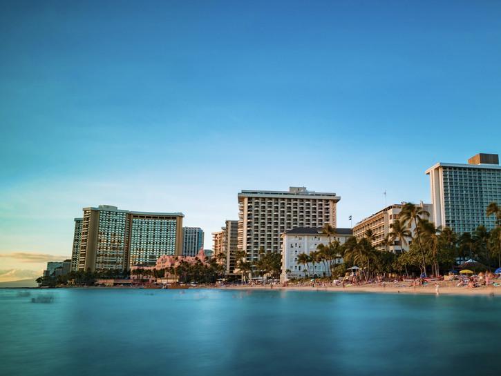 Hotels along Waikiki beach