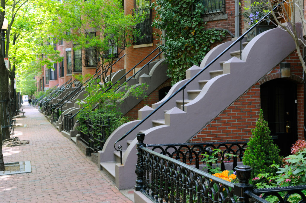 Houses in Boston's South End neighborhood.