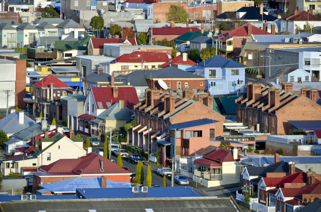 Houses in Hobart, Tasmania.