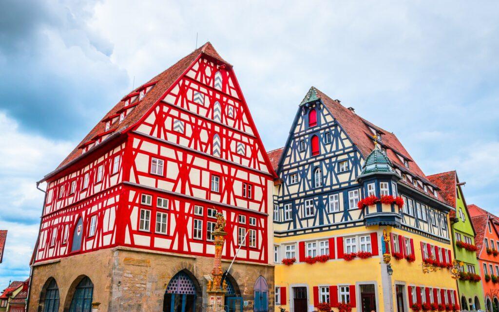 Houses in Rothenburg ob der Tauber.