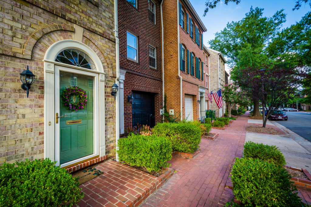 Houses in the Old Town area of Alexandria, Virginia.
