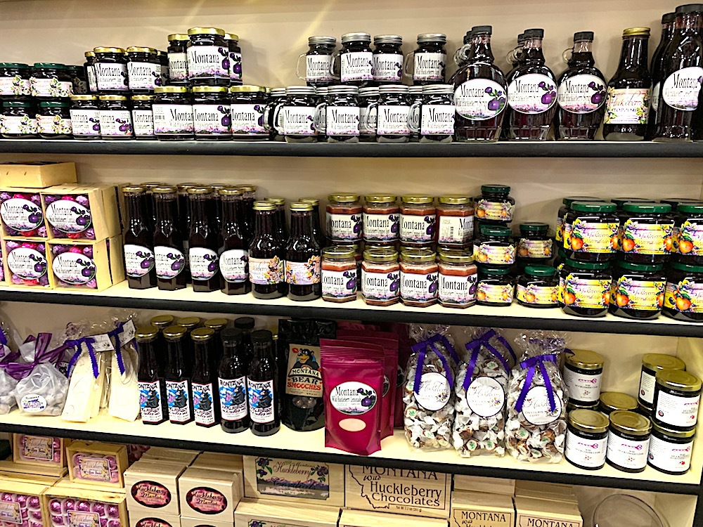 Huckleberry products for sale in Missoula.