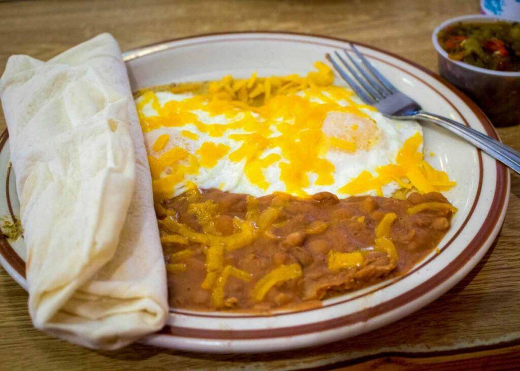 Huevos rancheros from Frontier Restaurant.
