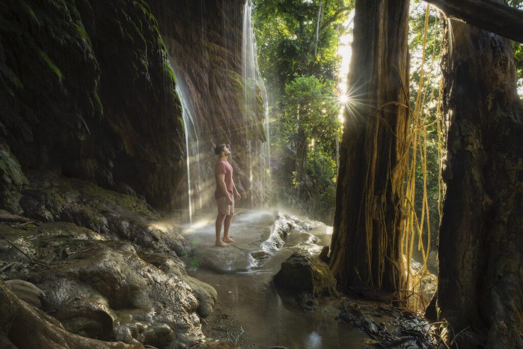 Hughs Dale Waterfall on Christmas Island.