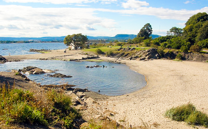 Huk beach in Oslo, Norway.